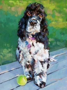 "Daily Paintworks - ""Romeo -- Commissioned Pet Portrait"" - Original Fine Art for Sale - © Joanna Bingham"