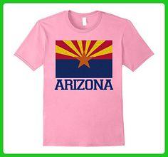 Mens Arizona State Flag Retro Vintage T-Shirt Tee 2XL Pink - Retro shirts (*Amazon Partner-Link)