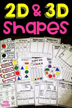 2d and 3d shapes activities that are so fun for kids! So many amazing centers and printables to make learning shapes easy and engaging!