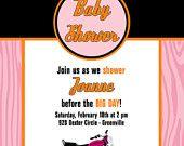 baby shower invitation biker motorcycle theme baby by starwedd