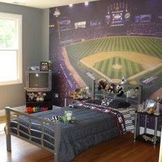 Baseball Murals In Small Kids Bedroom Part 76