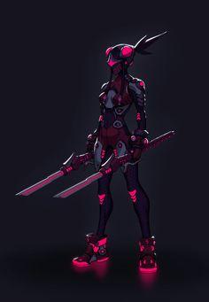 Neon, Jesse Z on ArtStation at https://www.artstation.com/artwork/neon-1e84ac2a-4165-4c0d-8f40-de513ea5c9fa