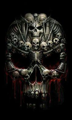 Risultati immagini per fantasy art skulls Dark Fantasy Art, Dark Art, Skull Tattoos, Body Art Tattoos, Evil Skull Tattoo, Arte Lowrider, Grim Reaper Art, Dark Reaper, Badass Skulls