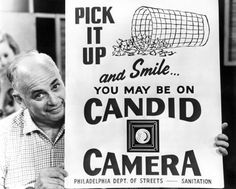Smile, you're on Candid Camera!! I loved this show.
