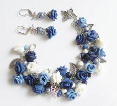 Nocturne Bracelet and earrings by PommeDeNeige on Etsy