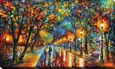 When the Dreams Came True by Leonid Afremov Painting Print on Wrapped Canvas