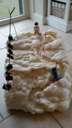 Skihelling van purschuim