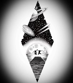 VK - The Best Geometric Space Tattoos - Planet Tattos Ideas Space Drawings, Cool Art Drawings, Art Drawings Sketches, Tattoo Sketches, Tattoo Drawings, Nature Tattoos, Body Art Tattoos, Sleeve Tattoos, Tatoos