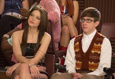 "Marley and Artie in Glee Season Episode ""Guilty Pleasures"" Glee Season 4, Artie Abrams, Rachel And Finn, Dramatic Arts, Glee Club, Katie Mcgrath, Melissa Benoist, Tv Episodes, Celebs"