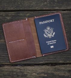 Adventure Leather Passport Wallet by Go Forth Goods on Scoutmob