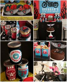 Motorcycle Rally Party with REALLY AWESOME Ideas via Kara's Party Ideas | Kara'sPartyIdeas.com #Harley #Motorcycle #Party #Ideas #Supplies
