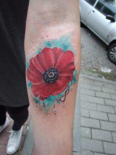 #BLACKSTARSTUDIO #color tattoo #flower tattoo