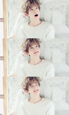 EXO's Baekhyun.he is so kawaii. Stop trying to act so innocent Baekhyun. Kpop Exo, Exo Bts, Bts And Exo, Baekhyun Chanyeol, Sehun Oh, Baekhyun Facts, K Pop, Btob, Laura Lee