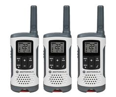 Motorola MOT-T260TP 3 Pack FRS 25 Mile 2-way Radios with NOAA and alerts - White #Motorola