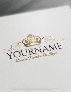 Exclusive logo design hair salon logo images free business card create a logo free online crest crown logo templates wajeb Choice Image