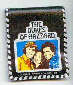 Dukes of Hazzard (1979-85, CBS) — 1981 wallet featuring John Schneider, Catherine Bach & Tom Wopat