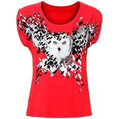 Camiseta com Estampa de Coruja Feminina -----------------------------------    http://www.passarela.com.br/passarela/produto/camiseta-com-estampa-de-coruja-feminina-ellus-2nd-floor-vermelho-6400906416-0?utm_source=pmweb&utm_medium=email&utm_campaign=EMKT_22102015_FEM_24a45