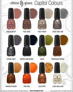 'Capitol Colours' --- Hunger Games nail polish! Plus I love almost every one of them