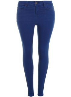 Cobalt Blue Ultra stretch Jeans from Evans come in size 14-32 and have a super narrow fit throughout the leg. www.evans.co.uk