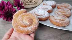 Snail donuts / donuts / donuts ♥ P&S baking paradise – Sweet Varieties Doughnut Muffins, Donuts Donuts, Biscuits, Xmas Food, Snacks Für Party, Bread Cake, Beignets, Fritters, Creative Food