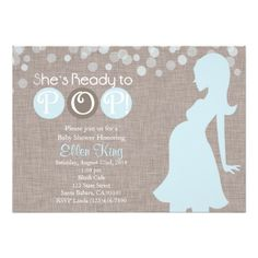 Baby Shower Invitation-She's Ready to Pop!