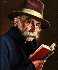 Wolfle, Franz Xavier (b,1887)- Man w Book, In