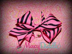www.MacyDiddle.com  Pink Zebra Bow Baby Clip OR Headband Newborn by MacyDiddle on Etsy, $5.00