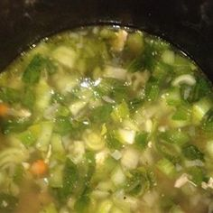 Chicken and Bok Choy Soup - Delicious soup with lots of vegetables! I also added some mushrooms. Definitely a keeper.