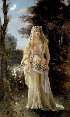 Ophelia, Alfred Stevens (Belgian, 1823-1906),