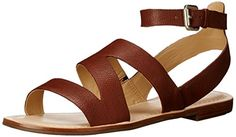 Marc Fisher Womens Florette Flat Sandal Tan 75 M US -- Check out this great product.