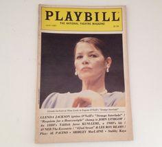 Playbill 1985 Glenda Jackson John Lithgow Kuni Leml Avner the Eccentric Theater
