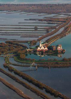 Laguna di Venezia. Casone delle Sacche