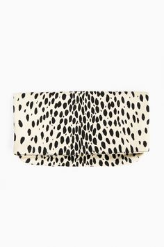 Leopard Clutch in Leopard by Emerson Fry - Tnuck
