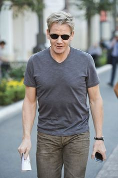 """Gordon Ramsey Celebrity Chef Gordon Ramsey inspects his new restaurant called """"The Fat Cow"""" at The Grove, in Los Angeles."""