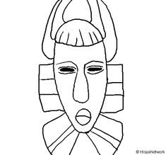 Coloring Page 2018 for Mascara Africana Para Colorear, you can see Mascara Africana Para Colorear and more pictures for Coloring Page 2018 at Children Coloring. Colorful Pictures, More Pictures, O Ritual, Mask Drawing, African Masks, Free Hd Wallpapers, Printing On Fabric, Coloring Pages, Images