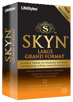 LifeStyles SKYN's Large Condoms in 12 Pack at Bed Time Toys, Sex Toys Canada, Free Discreet Shipping, Online Sex Toy Store with affordable prices for Sex Toys Toy Store, Packing, Lifestyle, Toys, Bed, Bag Packaging, Stream Bed, Gaming