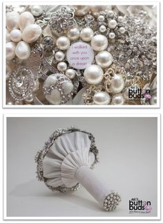How #amazing is this #broochbouquet! We #love #silver and #sparkles at the moment and cant forget #beautiful #pearls either! What are your thoughts on this one?  #alternativebouquet #stunning #buttons #sparkles #alternative #wedding #bride #instaweddings #handmade #love #weddingparty #celebration  #bridesmaids #forever #ceremony #collage #marriage #weddingday #buttonbouquets #fashion #flowers #australia  www.nicsbuttonbuds.com.au www.facebook.com/nicsbuttonbuds…