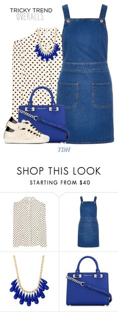 """""""Overalls"""" by talvadh ❤ liked on Polyvore featuring RED Valentino, River Island, INC International Concepts, MICHAEL Michael Kors, Philippe Model, TrickyTrend and overalls"""