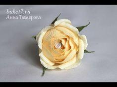 Мастер-класс. Букеты из конфет. Английская Роза. - YouTube