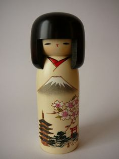 Usaburo Wooden Kokeshi Doll Made in Japan by DancesWithVases