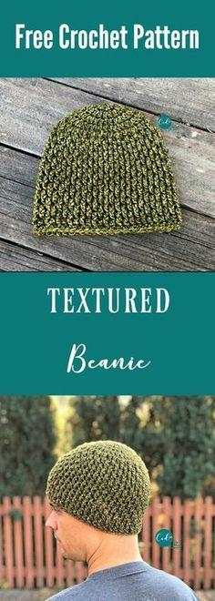 Textured Beanie free crochet pattern in both men's and women's sizes. Free crochet beanie | free hat pattern crochet | crochet hat free pattern | textured hat crochet | free pattern | boy crochet hat | unisex hat crochet