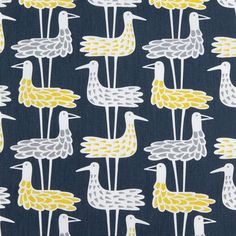 Tablecloth grey white yellow black abstract Birds by Dreamzzzzz