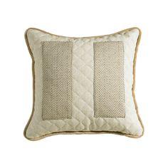 Fairfield Quilted Linen Throw Pillow