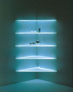 Lighting shelves, Shiro Kuramata
