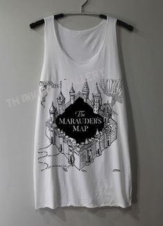 The+Marauder's+Map+Shirt+Harry+Potter+Map+by+ThinkingGallery,+$15.00