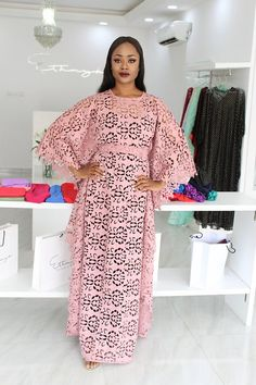 Nigerian Lace Styles Dress, Best African Dresses, Lace Gown Styles, Latest African Fashion Dresses, African Print Fashion, African Attire, Kaftan Style, Camisoles, Gowns