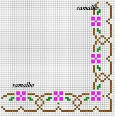 Cross Stitch Boarders, Cross Stitch Tree, Cross Stitch Baby, Cross Stitch Flowers, Cross Stitch Designs, Cross Stitching, Cross Stitch Patterns, Bead Embroidery Patterns, Needlepoint Patterns