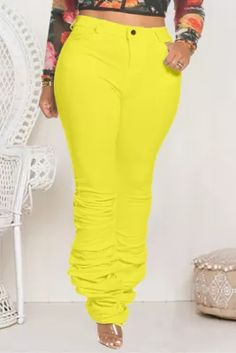 Fashion Sexy Yellow Plus Size Casual Sports Trousers African Wear Dresses, Sports Trousers, Plus Size Casual, Yellow Fashion, Sport Casual, Sexy, Swimwear, How To Wear, Weight Loss