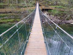 Passadiços do Paiva - bridge at the Vau river beach