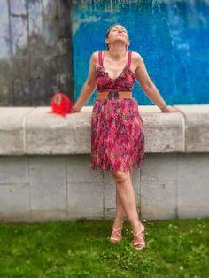 Un vestido para mí: vestido plisado naf naf